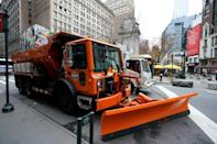 Both New York and Pennsylvania dispatched plows to deal with the snowfall and keep the roads clear