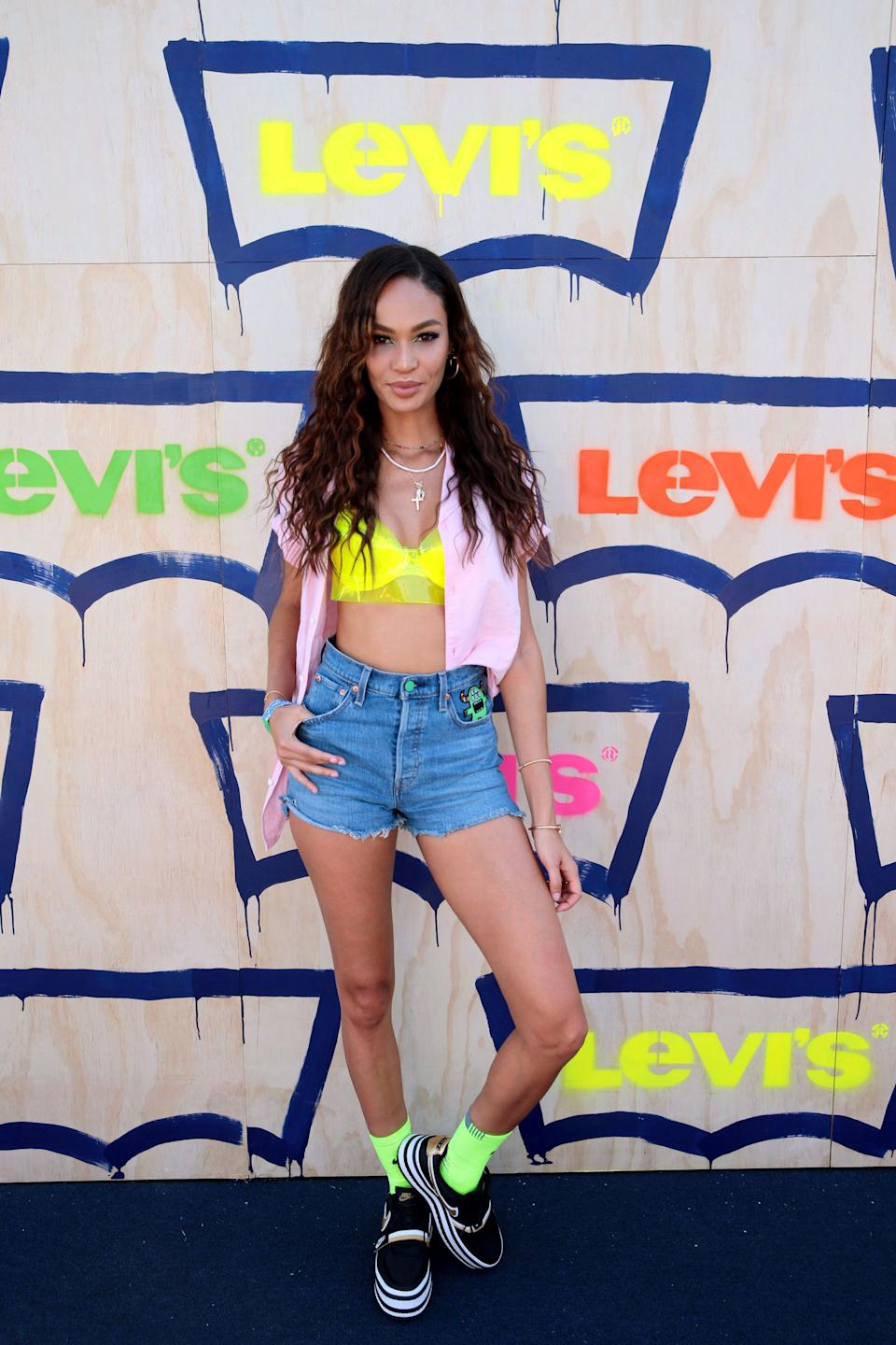 Joan Smalls at Levi's in the Desert 2019 Coachella party in Indian Wells, CA (Photo: Levi's)