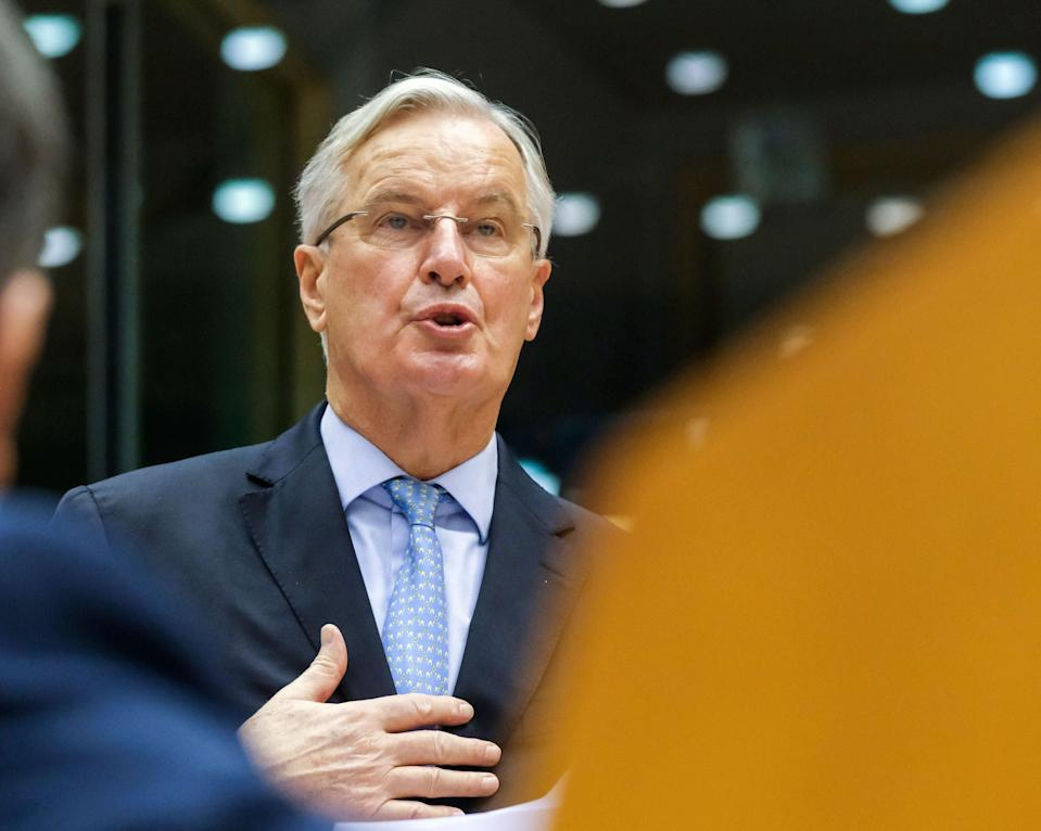 European Union chief Brexit negotiator Michel Barnier at the European Parliament in Brussels  (POOL/AFP via Getty Images)