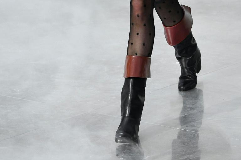 These boots are made for riding: The equestrian theme dominated the Chanel Paris fashion week show