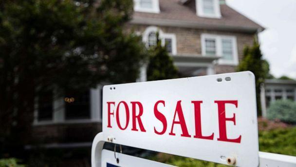 PHOTO: A realtor's 'For Sale' sign stands in front of a house in 2018. (Matt Rourke/AP, FILE)