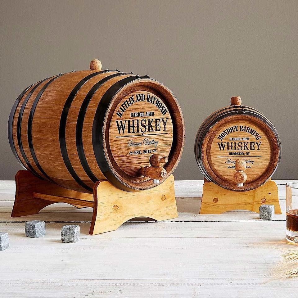 <p>The <span>Personalized Whiskey Barrel</span> ($85-$200) is a personable gift for the whiskey lovers in your life.</p>