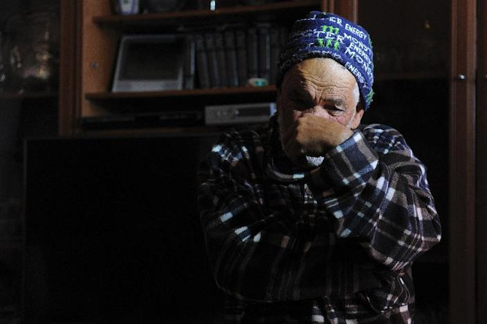 The father of one of four people accused of recruiting young women to join the Islamic State group, is pictured inside his home in Sant Vicens dels Horts, near Barcelona on February 24, 2015 (AFP Photo/Josep Lago)