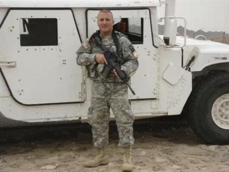 Puerto Rico National Guard handout photo shows U.S. soldier SPC Lopez in the Sinai Peninsula during his service with the 295th Infantry of the PR National Guard