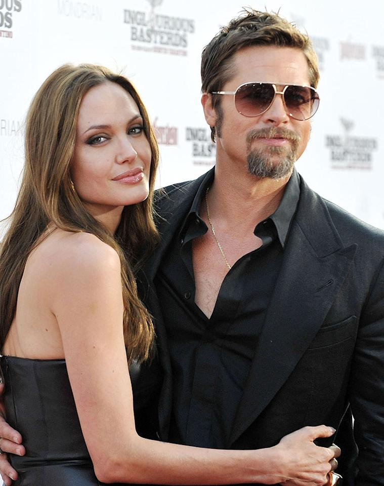 "Stories about the demise of Brangelina are a tabloid staple, but the couple always looks cozy at public events, like the LA premiere of Brad's movie ""Inglourious Basterds."" Jon Kopaloff/<a href=""http://www.filmmagic.com/"" target=""new"">FilmMagic.com</a> - August 10, 2009"