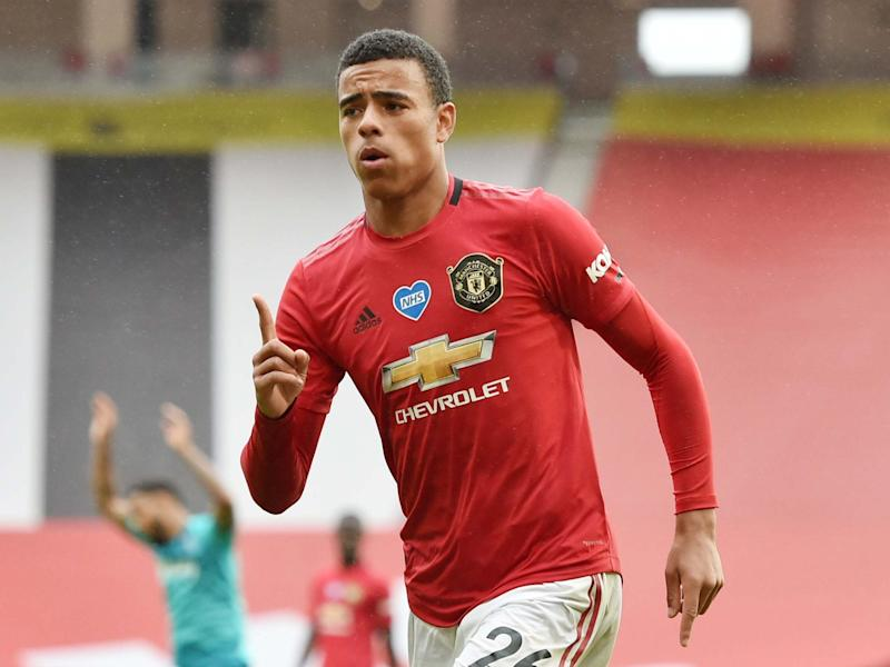 Mason Greenwood celebrates after scoring his second goal against Bournemouth: Reuters