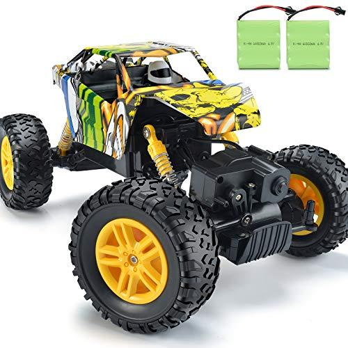 DOUBLE E RC Cars Rechargeable Remote Control Car with 2 Batteries 4WD Off Road Monster Truck Rock Crawler Toys for Boys Girls on All Age (Amazon / Amazon)
