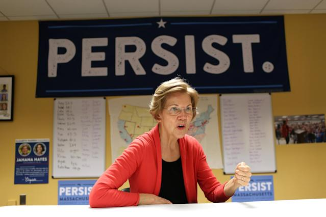 "After being called ""Pocahontas"" by President Trump, Sen. Elizabeth Warren took a DNA test, which shows she is of Native American descent. (Photo: Hadley Green/Washington Post via Getty Images)"