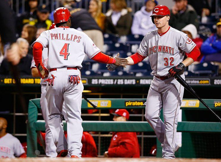 Hot Reds Jay Bruce and Brandon Phillips are enticing Tuesday DFS options (Getty)