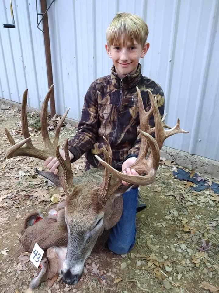Kaden Sheat, 14, killed his biggest deer yet - a 22-point buck - during this year's youth hunt.