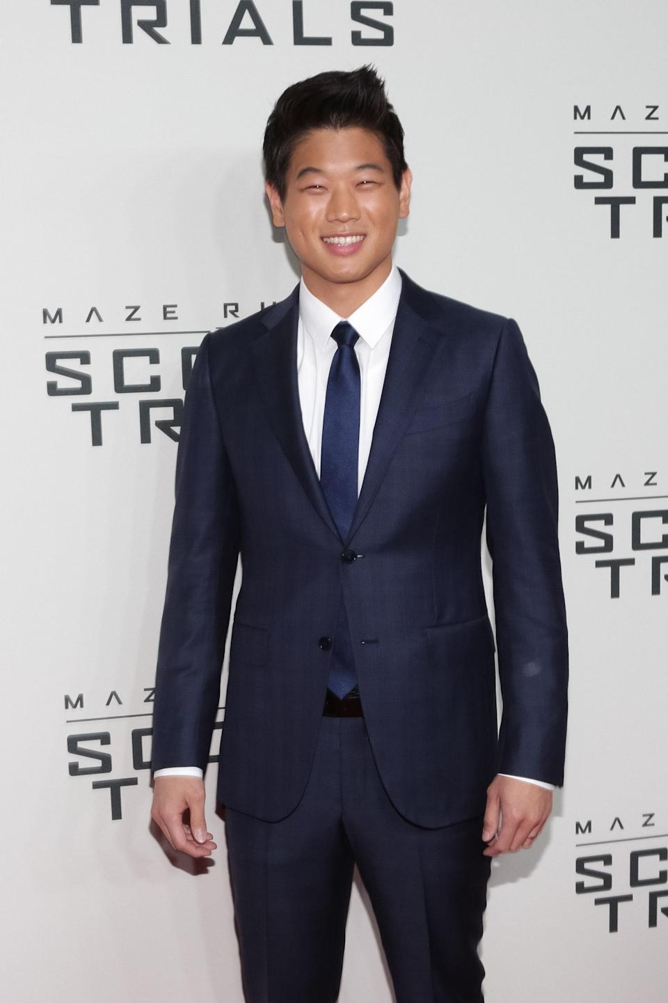 """Aside from his starring role in the <em><a href=""""https://www.teenvogue.com/tag/maze%20runner?mbid=synd_yahoo_rss"""" rel=""""nofollow noopener"""" target=""""_blank"""" data-ylk=""""slk:Maze Runner"""" class=""""link rapid-noclick-resp"""">Maze Runner</a></em> series alongside Dylan O'Brien, you may recognize the Korean-American actor from the hit Netflix series <em>Unbreakable Kimmy Schmidt</em>. Whether he's freaking you out or making you laugh, there's nothing better than an actor who can take on a range of different roles."""