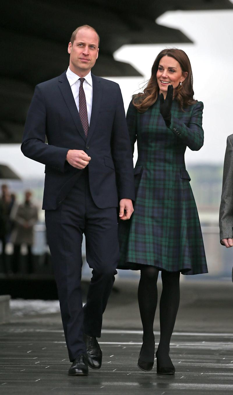 The Duke and Duchess of Cambridge in Dundee (PA)