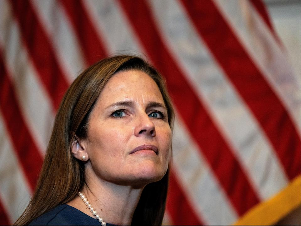 Judge Amy Coney Barrett, US President Donald Trump's nominee for the U.S. Supreme Court (REUTERS)