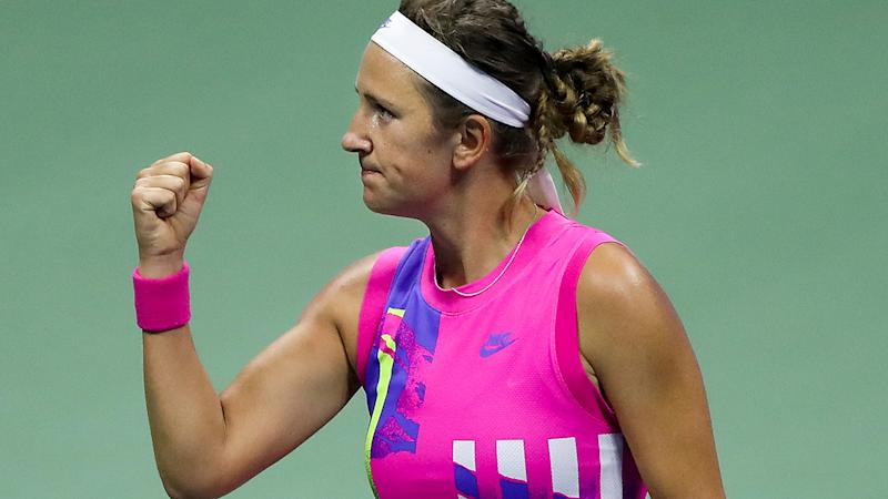 Victoria Azarenka, pictured here celebrating during her win over Serena Williams.