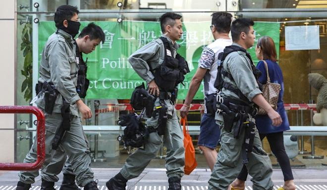 Riot police were deployed across the city. Photo: May Tse