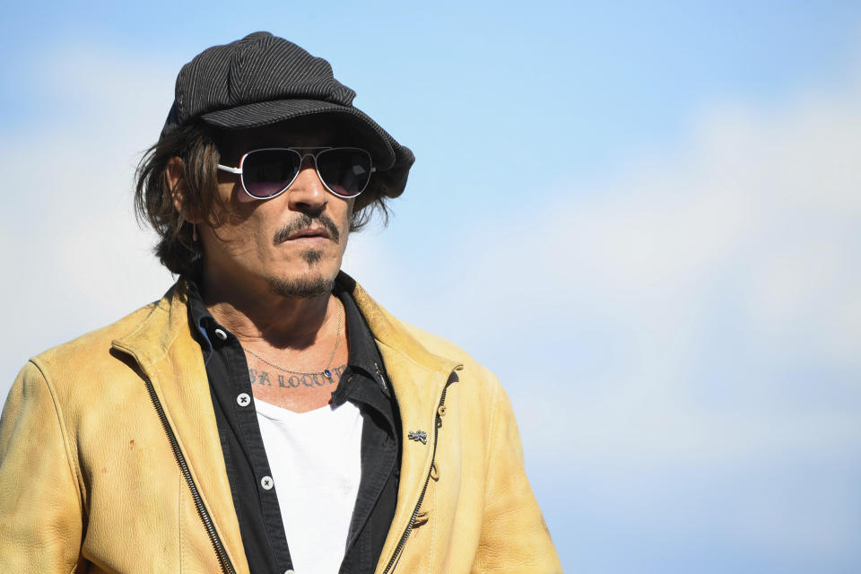 SAN SEBASTIAN, SPAIN - September 20: **NO SPAIN** Johnny Depp at the 'Crock of Gold: A Few Rounds with Shane MacGowan' Photocall during 68th San Sebastian International Film Festival at Kursaal Palace on September 20, 2020 in Donostia / San Sebastian, Spain. Credit: Jimmy Olsen/MediaPunch /IPX