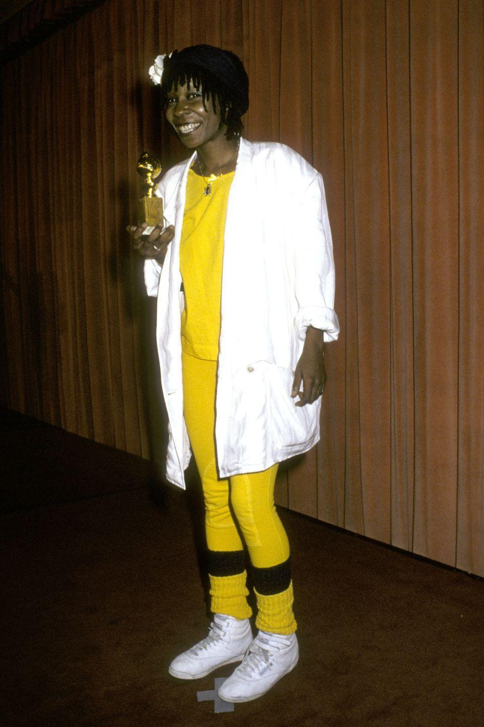 <p>The award-winning actress kept it rather casual in 1986. </p>