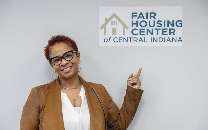 Carlette Duffy is photographed at the Fair Housing Center of Central Indiana - Michelle Pemberton /The Indianapolis Starvia AP