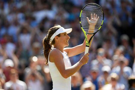 Wimbledon 2017: Johanna Konta eases into second round after straight set victory