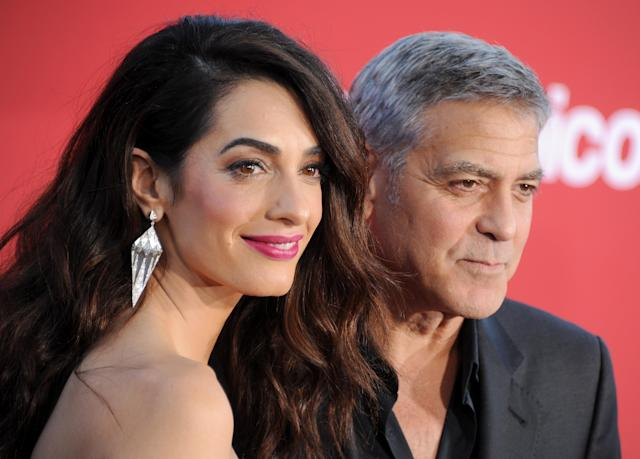 There's a 17-year age difference between George and Amal Clooney. (Photo: Getty Images)
