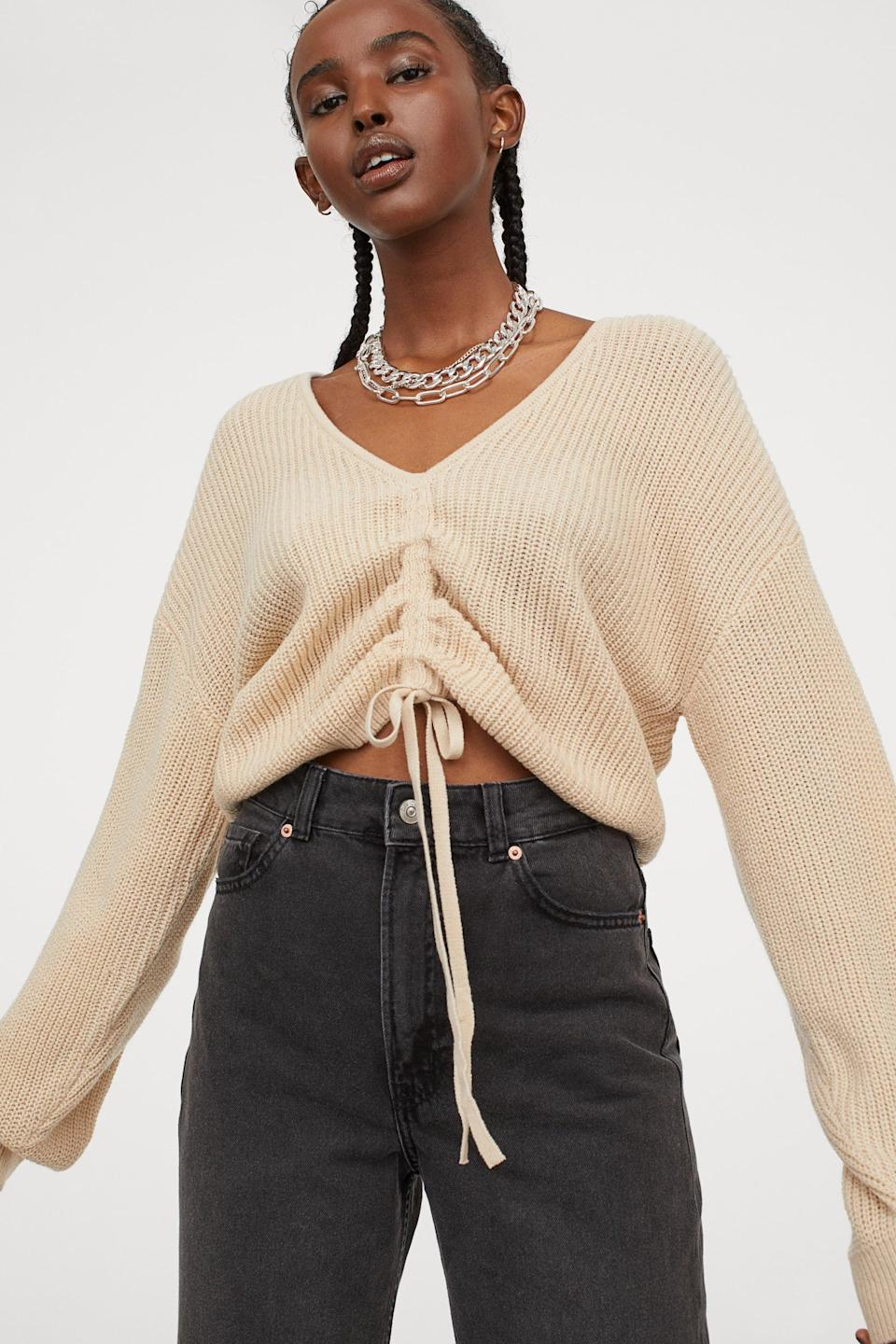 <p>This <span>H&M Knit Sweater</span> ($25) is too cute.</p>