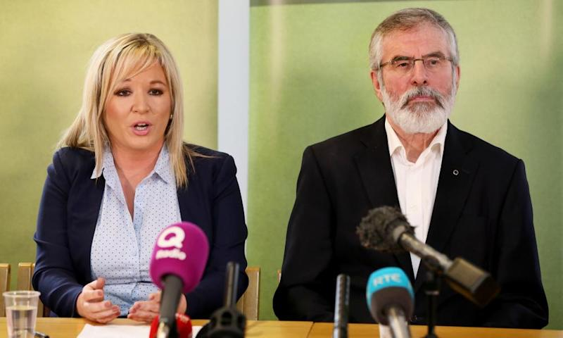 Michelle O'Neill and Gerry Adams.