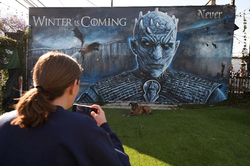 """""""Game of Thrones"""", the blood-spattered tale of noble families vying for the Iron Throne wrapped with the 73rd and final episode (AFP Photo/Robyn Beck)"""
