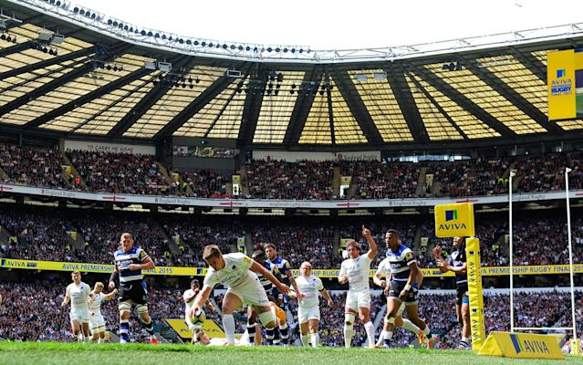 <span>Bath in action at Twickenham in 2015</span> <span>Credit: GETTY IMAGES </span>