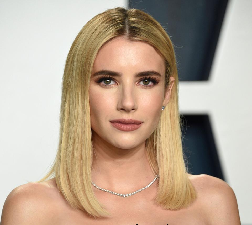 Emma Roberts à la Vanity Fair Oscar Party, en février 2020. (Photo: Evan Agostini/Invision/AP)