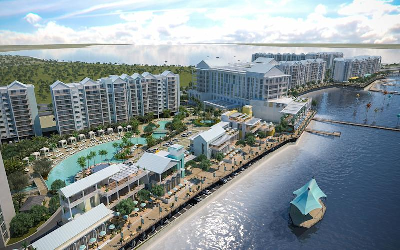 Rendering of an aerial view of the Sunseeker Resort in southwest Florida