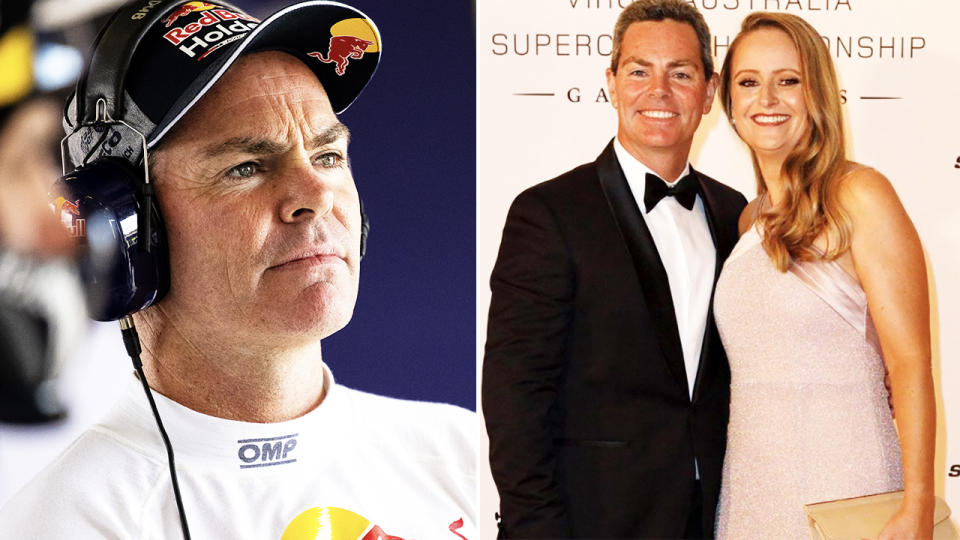 Craig Lowndes, pictured here with wife Lara.