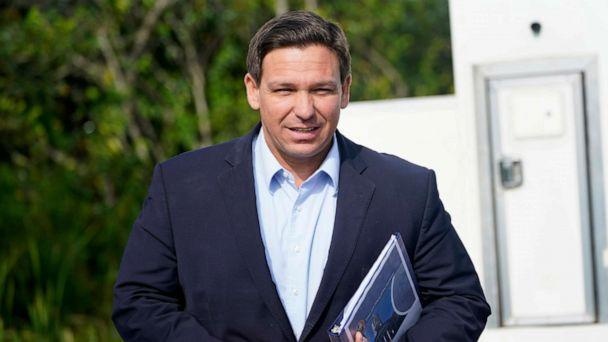 PHOTO: Florida Gov. Ron DeSantis arrives at a news conference, Aug. 3, 2021, near the Shark Valley Visitor Center in Miami. (Wilfredo Lee/AP)