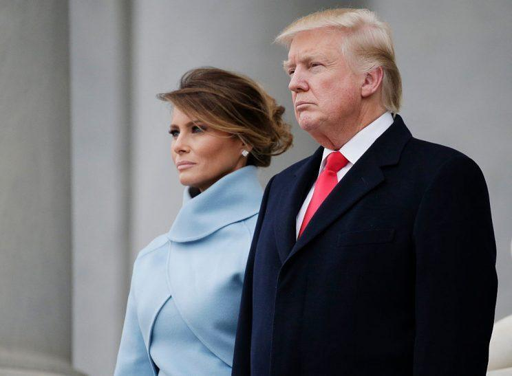 The new first couple at the 58th Presidential Inauguration on Capitol Hill. (Photo: John Angelillo-Pool/Getty Images)