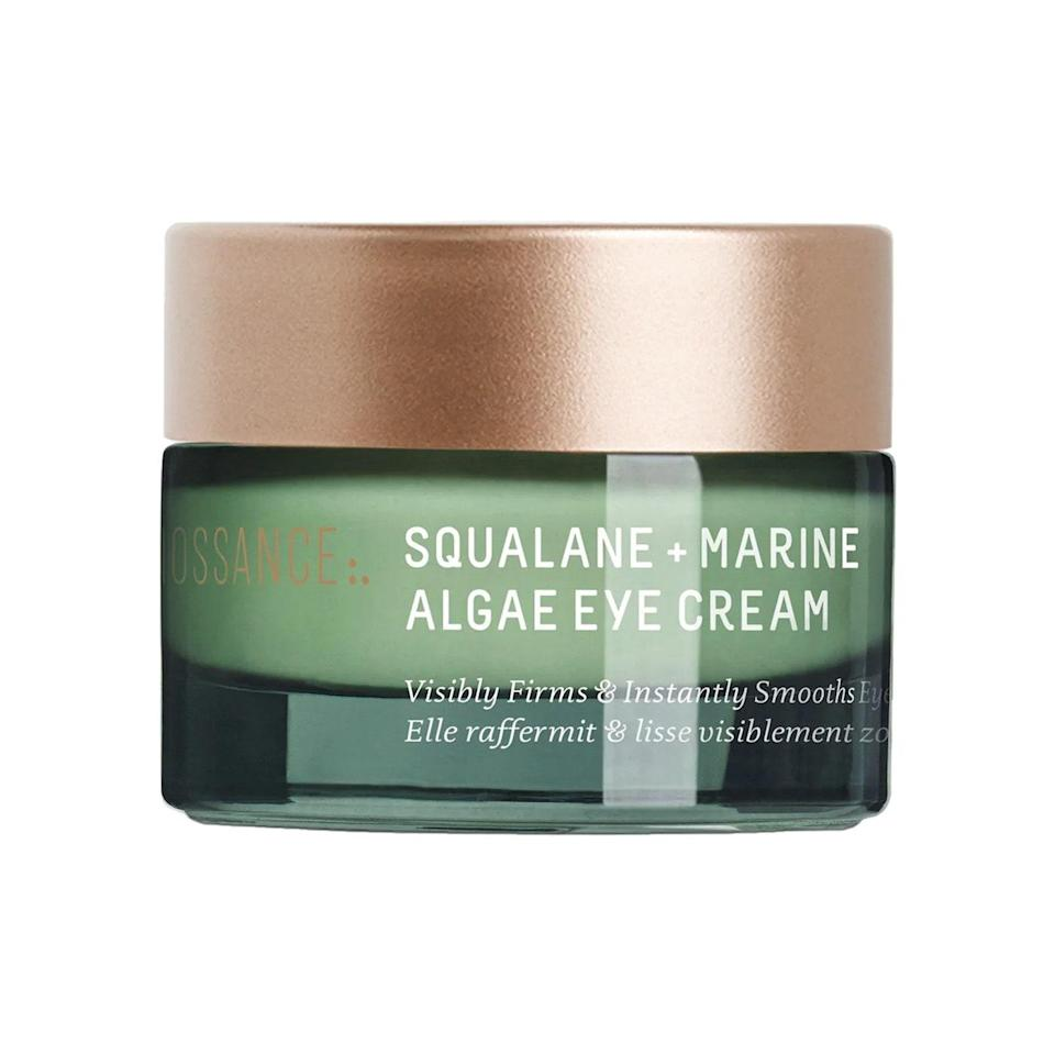 """A combination of skin-tightening marine algae and deeply hydrating <a href=""""https://www.allure.com/story/squalane-vs-squalene-skin-care-difference?mbid=synd_yahoo_rss"""" rel=""""nofollow noopener"""" target=""""_blank"""" data-ylk=""""slk:squalane"""" class=""""link rapid-noclick-resp"""">squalane</a> in this Biossance Squalane + Marine Algae Eye Cream smoothes and moisturizes the eye area so that makeup doesn't crease or cake. This <a href=""""https://www.allure.com/beauty-products/best-of-beauty?mbid=synd_yahoo_rss"""" rel=""""nofollow noopener"""" target=""""_blank"""" data-ylk=""""slk:Allure Best of Beauty"""" class=""""link rapid-noclick-resp""""><em>Allure</em> Best of Beauty</a> winner has a light texture that melts into skin with minimal rubbing."""