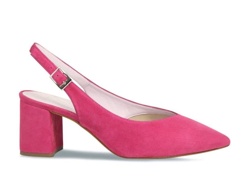 Alessia: Hot Pink Suede. Image via Sole Bliss.