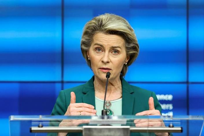 Ursula von der Leyen warned that the EU will ban drugs giant AstraZeneca from exporting coronavirus vaccines until it makes good on its promised deliveries to the bloc
