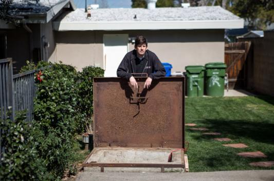 Backyard Fallout Shelter california couple discovers fully stocked 1960s fallout shelter in