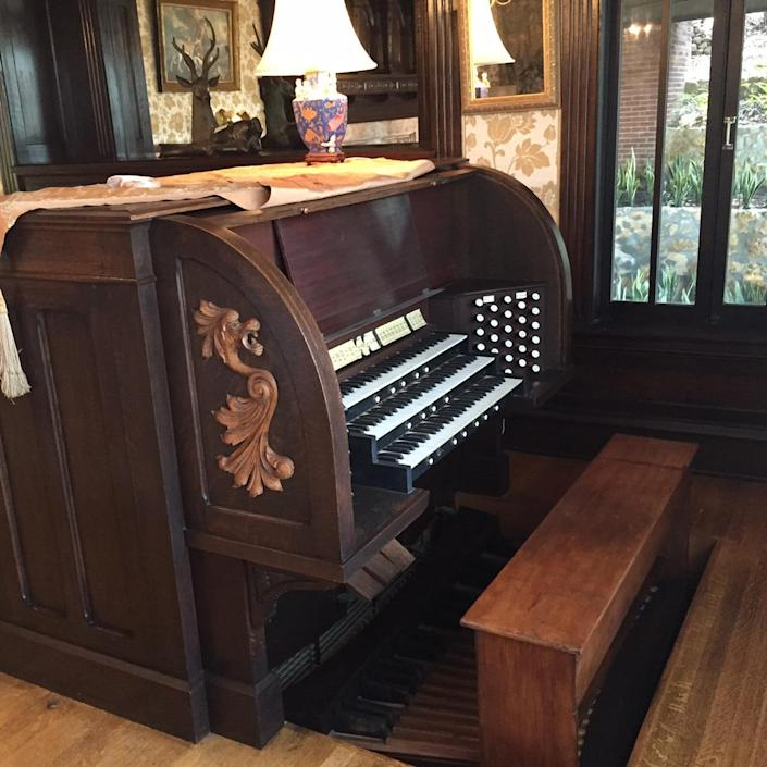 <p>This fully functional Murray Harris organ is reported to be the world's second-largest residential pipe organ. Its pipes and accouterments span three stories and several rooms.</p>