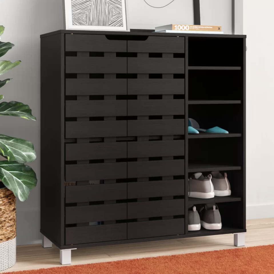 The easy answer to a messy entryway or a too-small bedroom closet. (Photo: Wayfair)