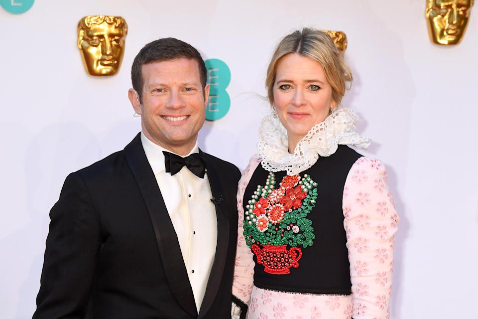 LONDON, ENGLAND - FEBRUARY 10: Dermot O'Leary and Edith Bowman attend the EE British Academy Film Awards at the Royal Albert Hall on February 10, 2019 in London, England.  (Photo by Dave J Hogan / Getty Images)