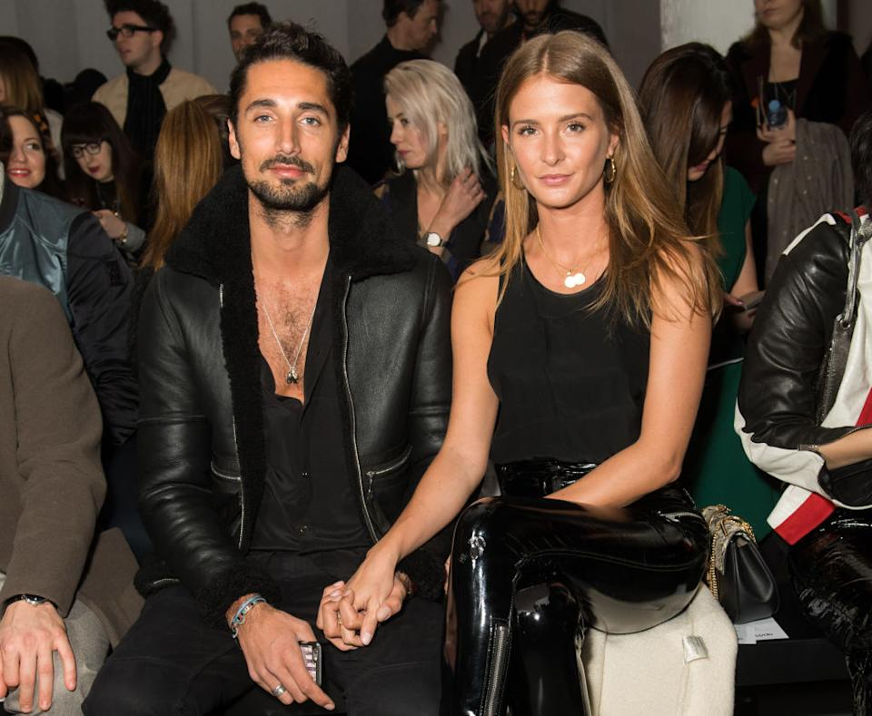 Millie Mackintosh and Hugo Taylor welcomed a baby daughter back in May, pictured here at LFW February 2018. (Getty Images)