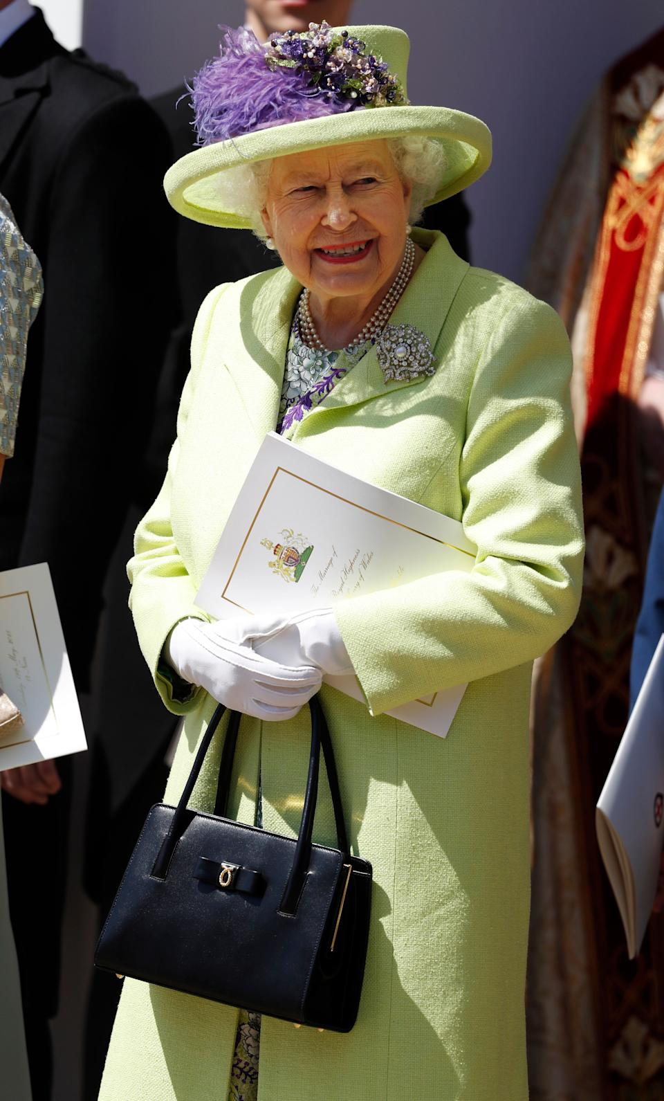 The Queen at Meghan and Harry's wedding last May [Photo: Getty]