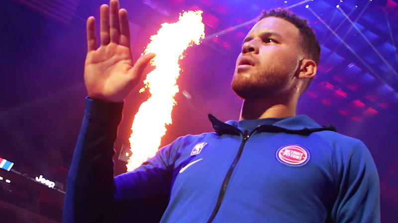 Detroit's Blake Griffin has endured a tough start to the season, which has impacted his fantasy scoring. (Photo by Gregory Shamus/Getty Images)