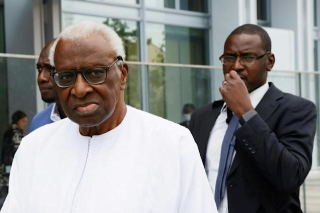 'Not a scapegoat': Lamine Diack (AFP Photo/Thomas SAMSON )