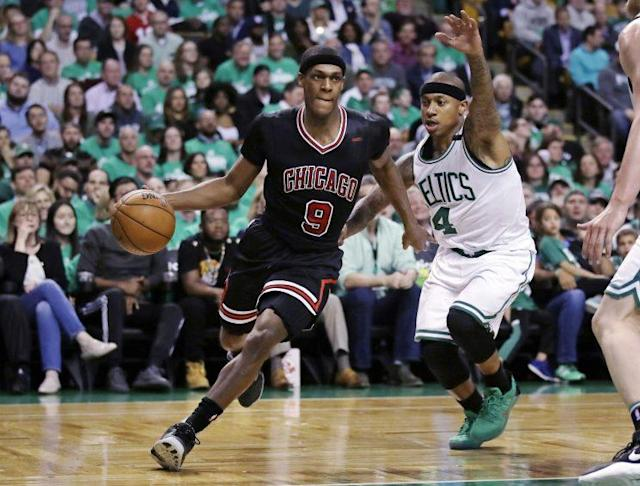 "<a class=""link rapid-noclick-resp"" href=""/nba/players/4149/"" data-ylk=""slk:Rajon Rondo"">Rajon Rondo</a> averaged 7.8 points, 6.7 assists and 5.1 rebounds in 69 games last season. (AP)"