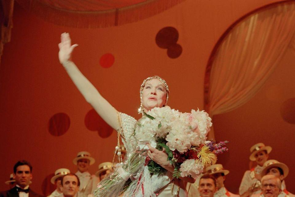 """<p>Julie Andrews in her final performance as Victoria Grant in the Broadway musical, """"Victor/Victoria"""" at the Marquis Theatre in New York. </p>"""