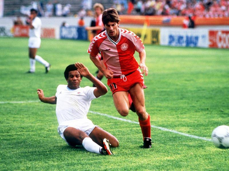 The Danes thrashed Uruguay 6-1 in 1986 (Getty)