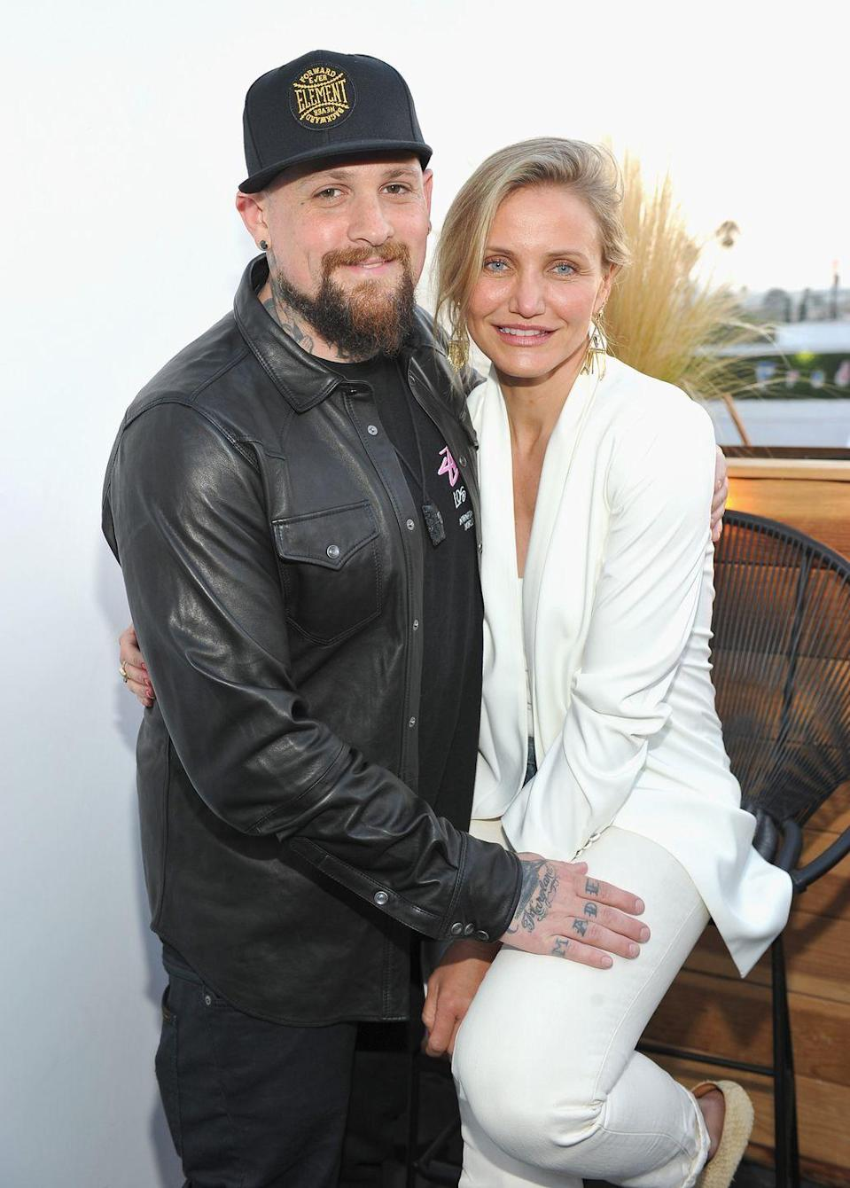 """<p>Nicole Richie is behind this pairing. The reality star, who is married to Madden's brother, Joel, took credit for the couple during an appearance on <a href=""""https://www.usmagazine.com/celebrity-news/news/nicole-richie-talks-cameron-diaz-and-benji-madden-is-happy-for-them-201497/"""" rel=""""nofollow noopener"""" target=""""_blank"""" data-ylk=""""slk:Watch What Happens Live"""" class=""""link rapid-noclick-resp""""><em>Watch What Happens Live</em></a>.</p><p>""""I approve of anything that's going to make Benji happy,"""" she said. """"I'm going to take responsibility for everything!"""" </p>"""