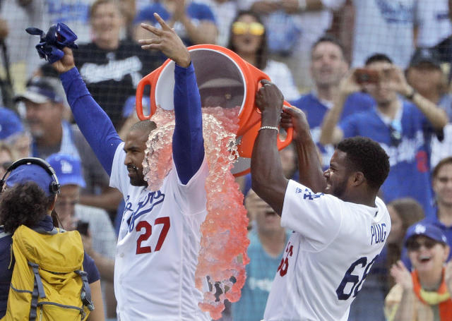 Matt Kemp played the role of hero twice this past weekend for the Los Angeles Dodgers. (AP)