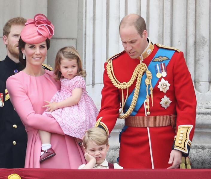 Less than impressed during the 2017 Trooping the Colour. (Getty Images)
